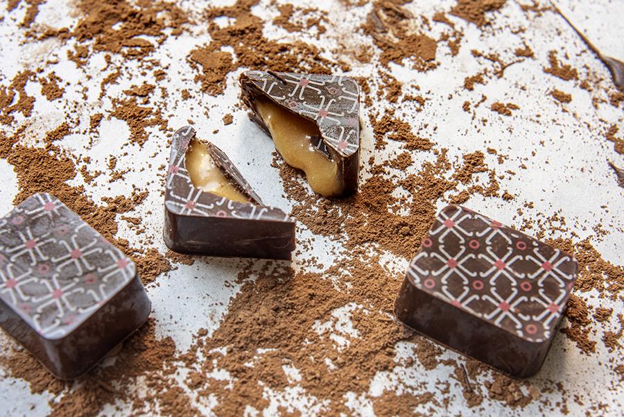 Bombom de Caramelo Salé com Amêndoa