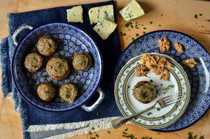 Cogumelos Recheados com Gorgonzola