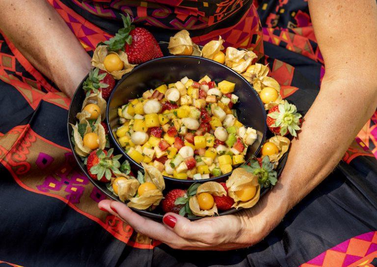 Ceviche de Frutas com Kombucha de Maracujá