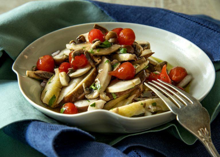 Ceviche de Cogumelos com Kombucha