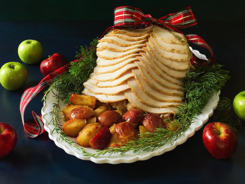 Peru de Natal com Curry e Maçãs