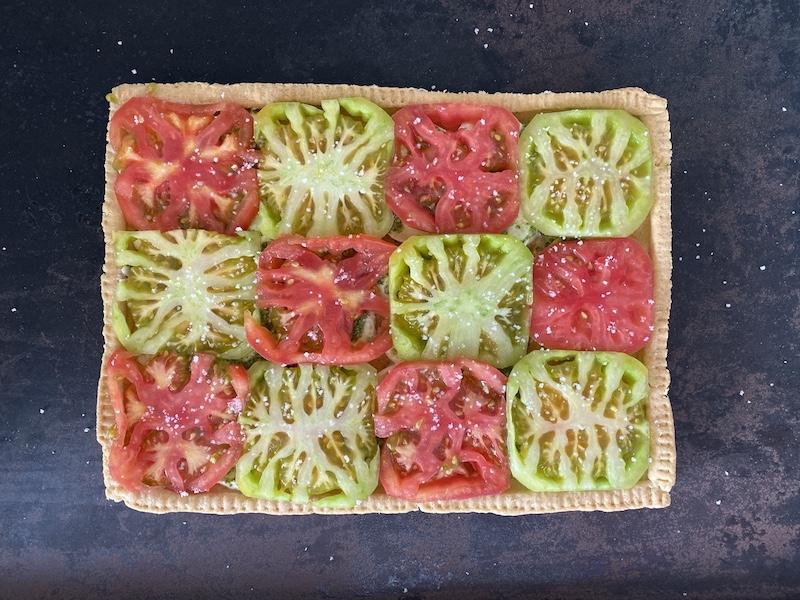 Torta Caprese com Burrata