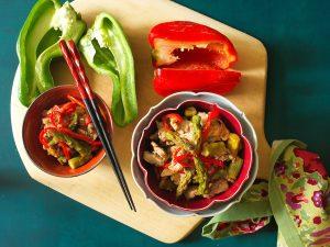 Filé de Porco Asiático com Legumes