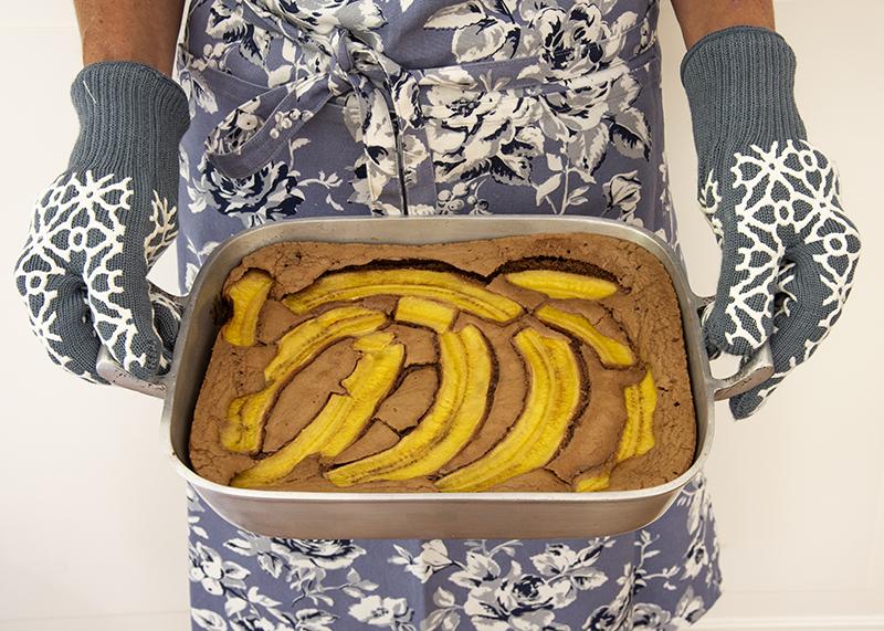 Brownie de Chocolate ao Leite com Banana e Ganache