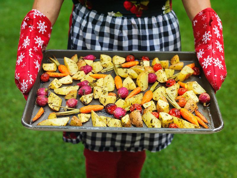 Legumes Assados à Moda Natalina