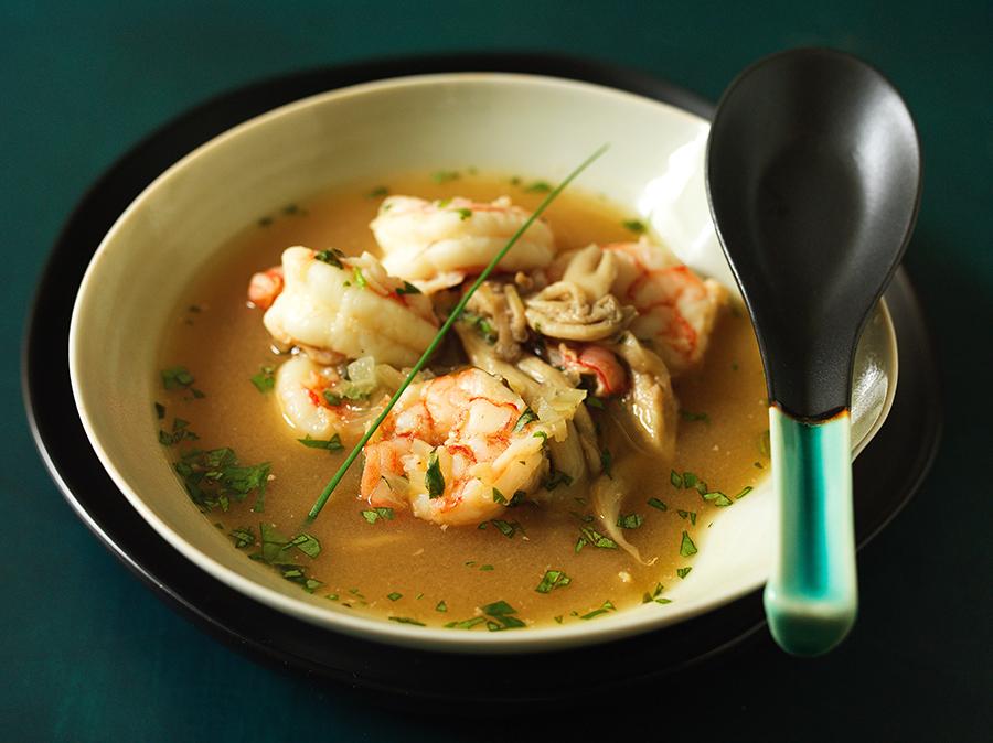 Sopa de Camarão Agridoce
