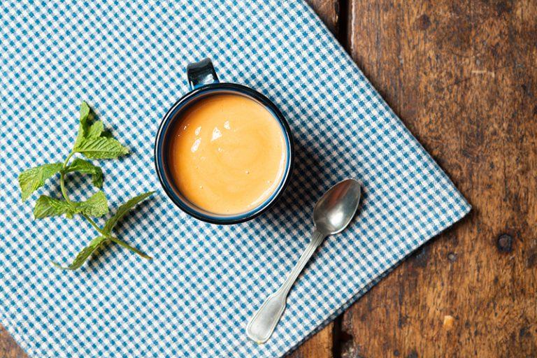 Shake de Papaia, Iogurte e Hortelã