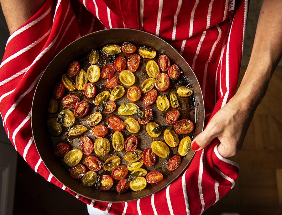 Tomatinhos Assados ao Vinagre Balsâmico