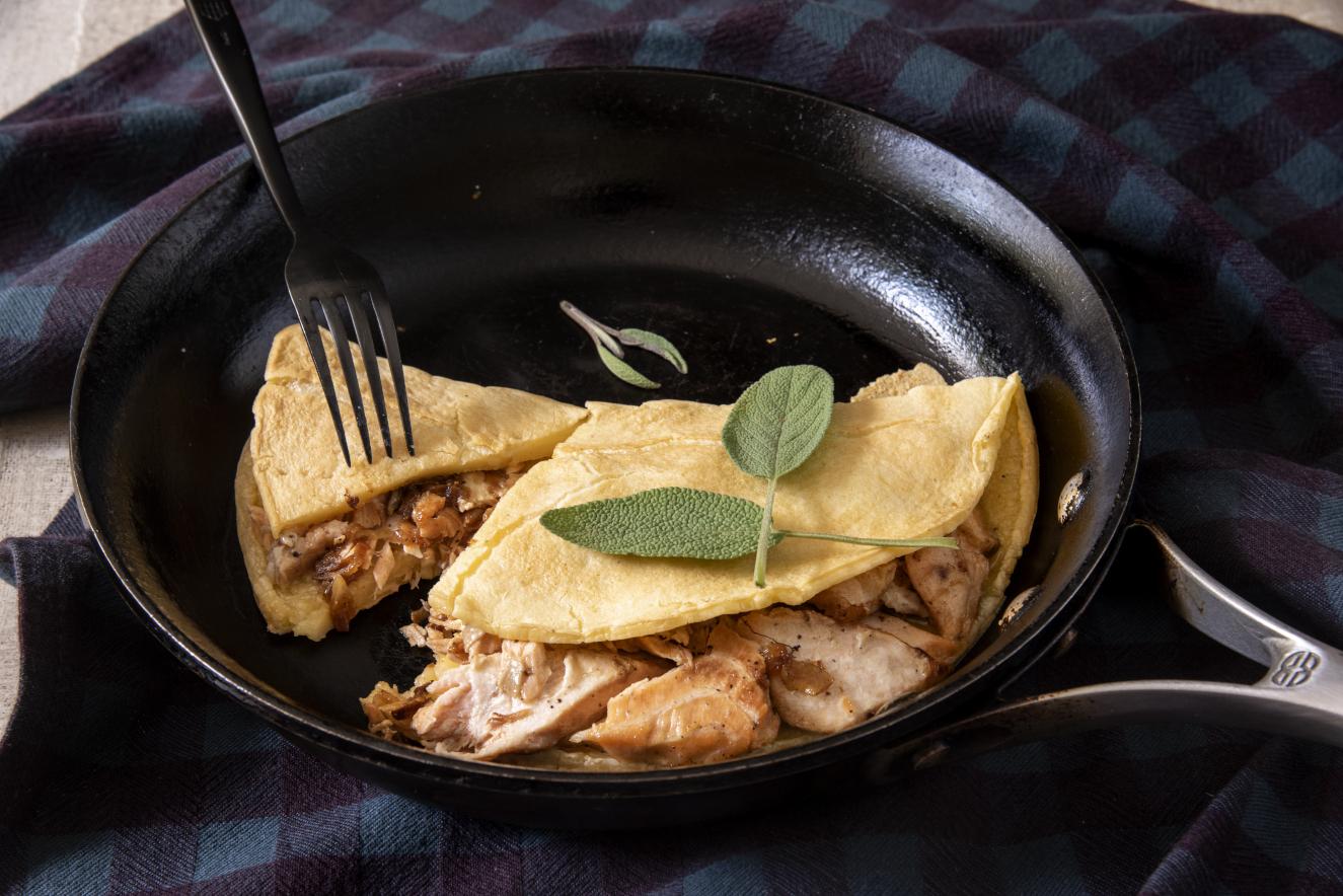 Crepioca Recheada – Omelete com Farinha de Tapioca