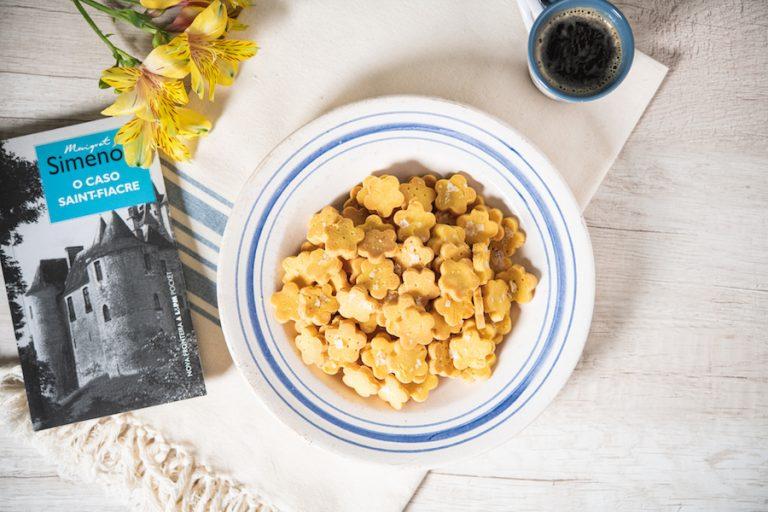 Cracker de Fubá e Flor de Sal