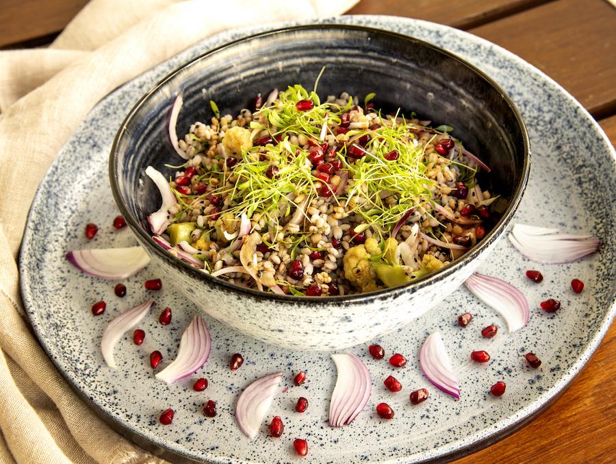 Salada de Cevadinha Mediterrânea
