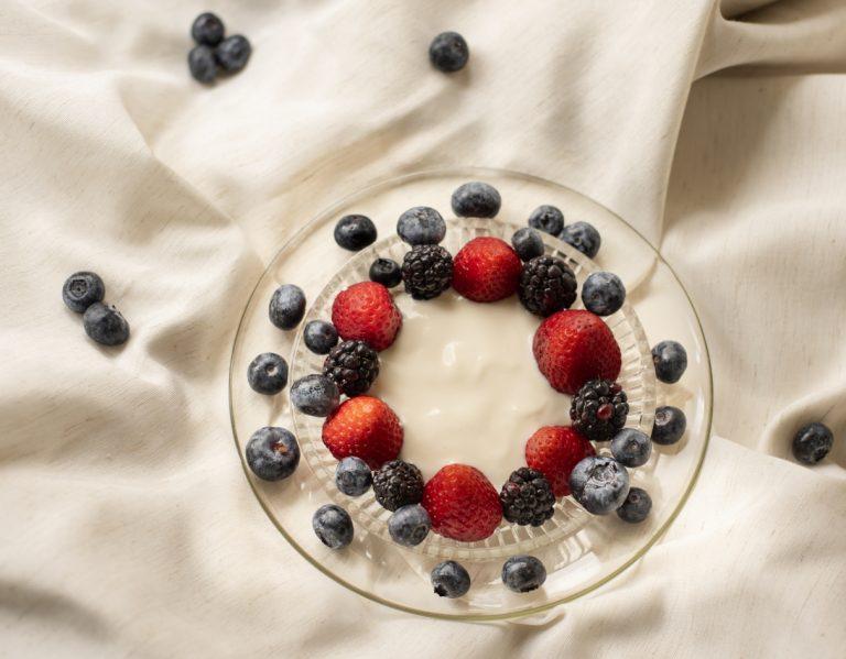 Creme de Ricota com Frutas Vermelhas