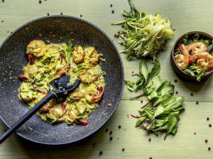 Espaguete de Abobrinha com Camarão