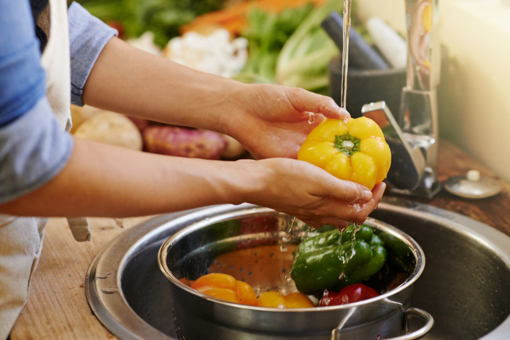 Lavando legumes