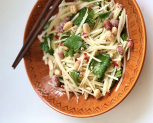 Salada Thai de Mamão Verde