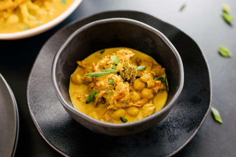 Curry Indiano de Frango e Vegetais