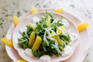 Salada de Chicória com Molho de Iogurte