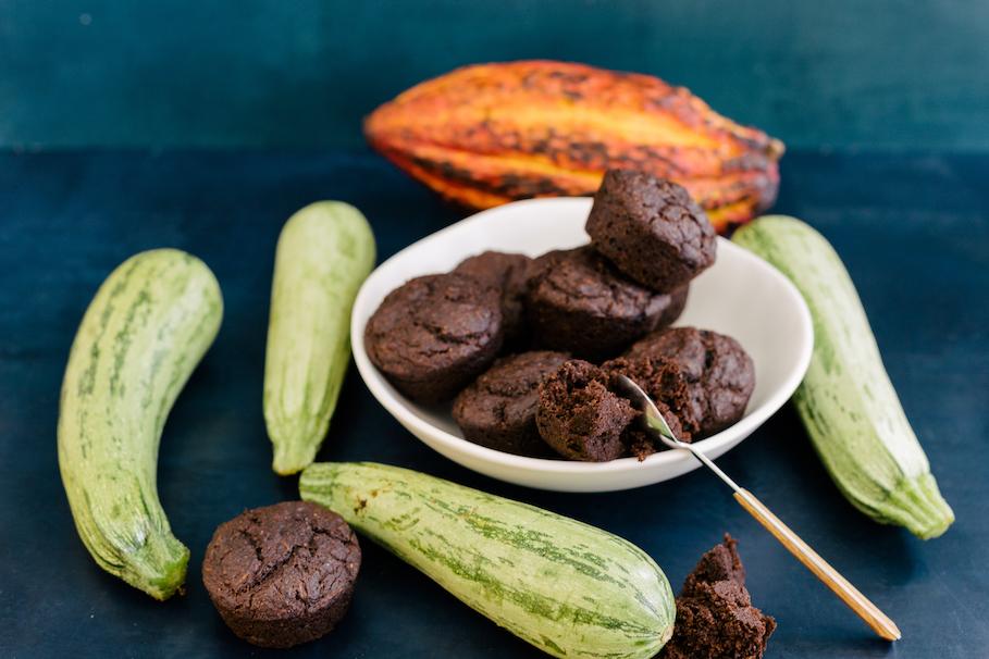 Muffin Vegano de Cacau e Abobrinha
