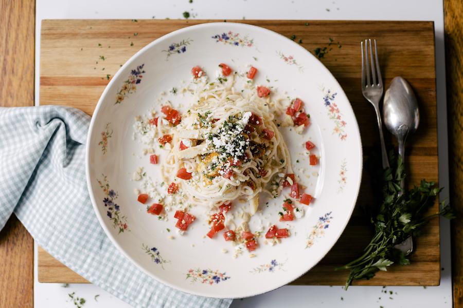 Salada de Pupunha com Frango