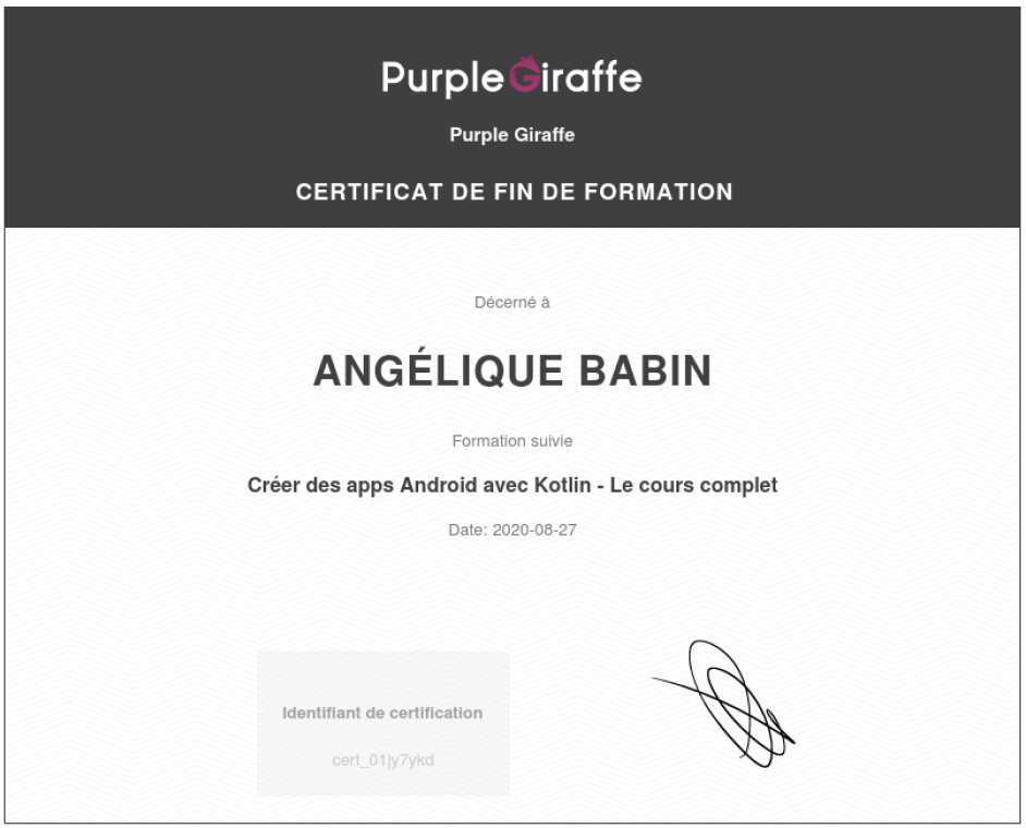 Certificat_PurpleGiraffe
