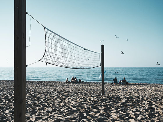 If you compare beach volleyball to playing indoor... You touch every other ball and, if you screw up, you only have one more person to back you up. You can't go hide in the corner.
