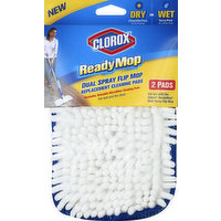 Clorox Replacement Cleaning Pads, Dual Spray Flip Mop, 2 Each