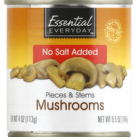 Essential Everyday Mushrooms, Pieces & Stems, No Salt Added, 6.5 Ounce