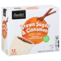 Essential Everyday Toaster Pastries, Brown Sugar & Cinnamon, Frosted, 12 Each