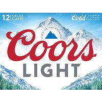 Coors Light Beer, 12 Each