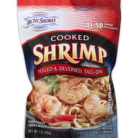 Arctic Shores Shrimp, Cooked, Peeled & Deveined, Tail-Off, 12 Ounce
