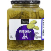 Essential Everyday Hamburger Dill, Chips, 32 Ounce