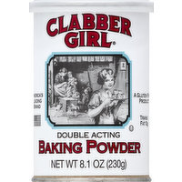 Clabber Girl Baking Powder, Double Acting, 8.1 Ounce