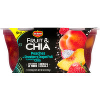 Del Monte Fruit & Chia, Peaches in Strawberry Dragon Fruit Flavored Chia, 2 Each