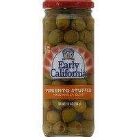 Early California Olives, Manzanilla, Pimiento Stuffed, 10 Ounce
