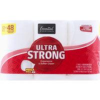 Essential Everyday Bathroom Tissue, Mega Roll, Ultra Strong, 2-Ply, 12 Each