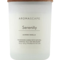 Aromascape Candle, Almond Vanilla, Serenity, 1 Each