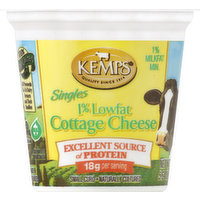 Kemps Cottage Cheese, Singles, Small Curd, 1%, Low Fat, 5.64 Ounce