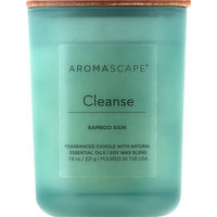 Aromascape Candle, Bamboo Rain, Cleanse, 1 Each