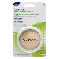 Almay Almay Clear Complexion 4 In 1 Blemish Eraser Pressed Powder, 100 Light, 0.28 Ounce