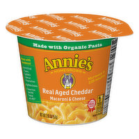 Annies Macaroni & Cheese, Real Aged Cheddar, 2.01 Ounce