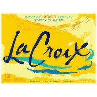 LaCroix Sparkling Water, Lemon, 12 Each
