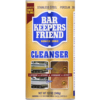 Bar Keepers Friend Cleanser, 12 Ounce