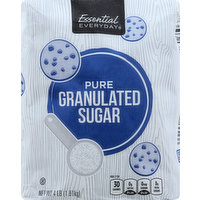 Essential Everyday Sugar, Granulated, Pure, 4 Pound