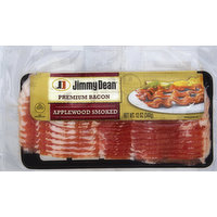 Jimmy Dean Bacon, Premium, Applewood Smoked, 12 Ounce