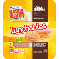 Lunchables Lunch Combinations, Ham & Cheddar Cracker Stackers, 3.5 Ounce