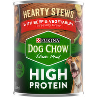 Dog Chow Dog Food, High Protein, Hearty Stews with Beef & Vegetables, 13 Ounce
