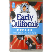 Early California Olives, California Ripe, Medium, Pitted, 6 Ounce