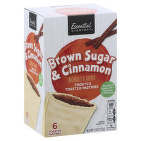 Essential Everyday Toaster Pastries, Brown Sugar & Cinnamon, Frosted, 6 Each