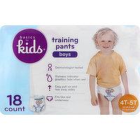 Basics For Kids Training Pants, 4T-5T (38 lb & Over), Boys, 18 Each