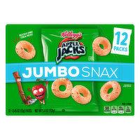 Apple Jacks Cereal, Jumbo Snax, 12 Packs, 12 Each